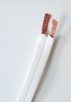2410 1000 16 Gauge 2 Conductors Extra Flat White Speaker Wire Ideal When It Is Desireable To Hide Under Your Carpet Foot Roll