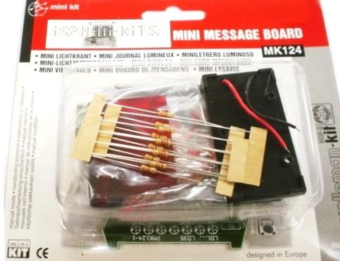 Laufschrift-Uhr 9V 12V MK123